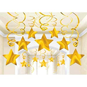Amscan International-674474-09Sunshine amarillo Swirl Kit de decoración