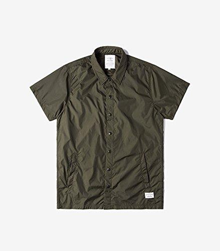 Honghu Herren Freizeit kurze Ärmel Causal Hemden Grün