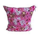 Dosige Baby Reisen Wetbag Windeltasche Wickeltaschen für Nasse und Trockene Kleidung Reißverschluss Wasserdicht Waschbar Nasstaschen