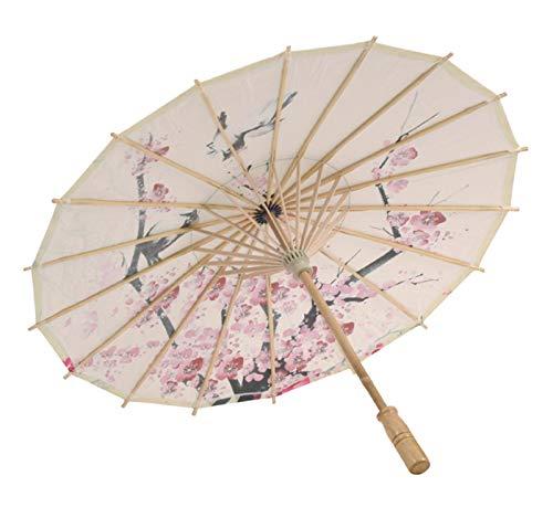 GreatFun aceite papel paraguas asiático japonés chino aceite papel paraguas sólido colorido paraguas 23,6 pulgadas