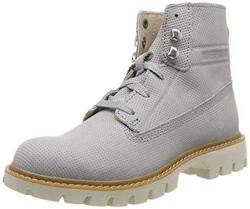 CAT Footwear Damen BASIS Kurzschaft Stiefel, Grau (Belgian Block Light Grey), 39 EU - Cat Damen Schuh
