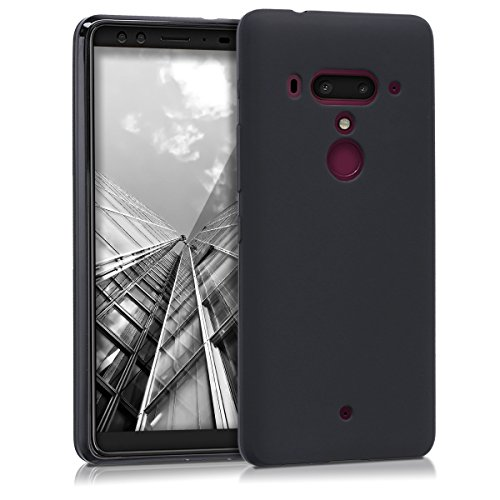 kwmobile HTC U12+ / U12 Plus Hülle - Handyhülle für HTC U12+ / U12 Plus - Handy Case in Schwarz matt