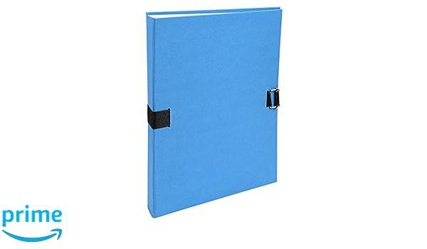 Exacompta 223229E Faldoni con Dorso Estensibile 24x32 cm Blu Scuro