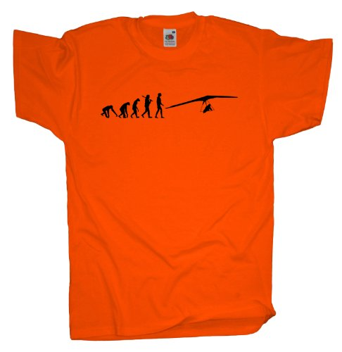 Ma2ca - Evolution - Drachenflug Drachenflieger T-Shirt Orange