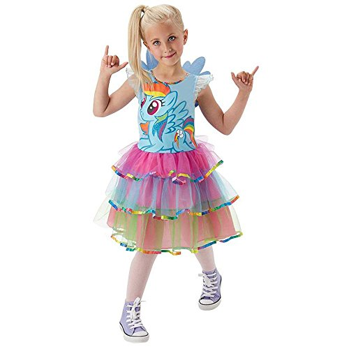 Rubie's My Little Pony Kinder Kostüm Rainbow Dash Karneval Gr.5 bis 6 J.