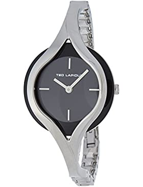 Ted Lapidus Damen-Armbanduhr Analog Quarz Metall A0596RNIX