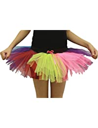 Crazy Chick Girls 3 Layers Rainbow TuTu Skirt (5-10 Years)