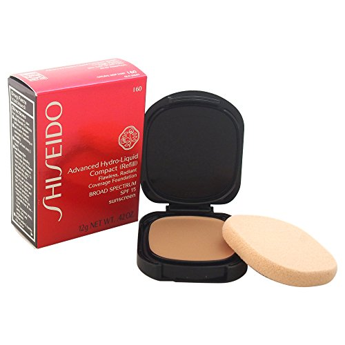 Shiseido Foundation femme/woman, Advanced Hydro-Liquid Compact Refill Nummer I60 Natural Deep Ivory, 1er Pack (1 x 12 ml) (Advanced Foundation)