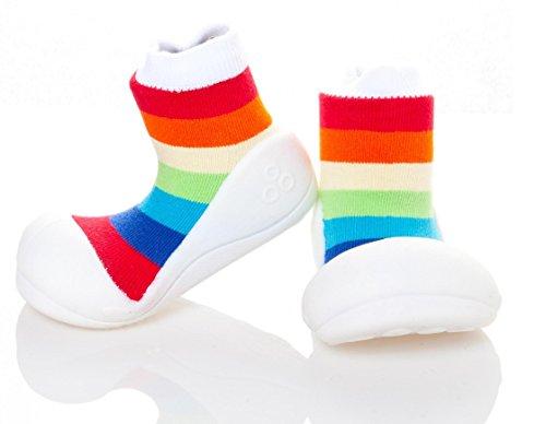 Attipas , {Chaussures premiers pas pour bébé (garçon) Multicolore Multicolore 21.5 Bco/Multicolor