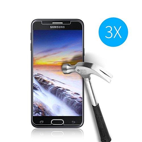Cardana   3X bruchsicheres Schutzglas für Samsung Galaxy J5 2017 / J5 2017 Duos   Schutzfolie aus 9H Echt Glas   angenehme Handhabung  Schutzglas zum Schutz vor Bildschirmschäden  