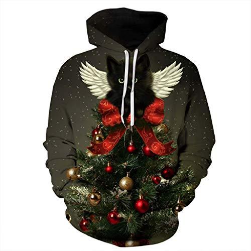 ck Weihnachten Digitaldruck T Shirt Langarm Tops Bluse Kapuzen Sweatjacke Kapuzenpullover Hoodie Pullover Sweatshirt ()