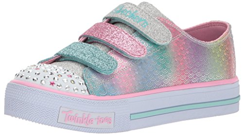 Skechers Mädchen Shuffles-Ms. Mermaid Sneaker, Mehrfarbig (Silver/Multicolour), 31 - Lichter Skechers Mädchen