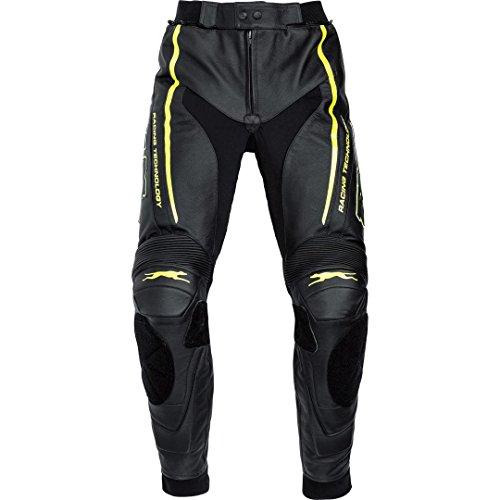 FLM Motorrad-Hose Kombi-Hose Sports Leder Kombihose 1.0 Neon-Gelb 52