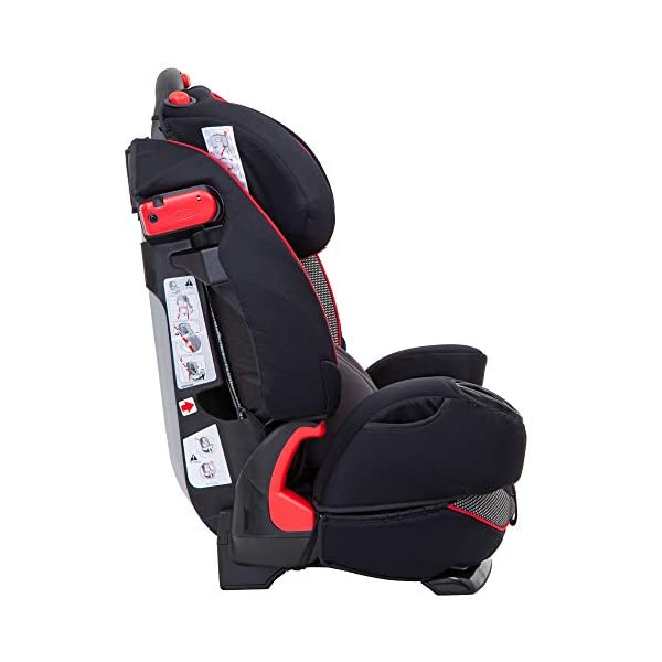 Graco Nautilus Elite Saturn Harnessed Booster Car Seat, Group 1/2/3, Red/Black Graco 2-in-1 convertible car seat for children 9 to 36 kg (approx 9 months to 12 years) From toddler to big kid, nautilus elite grows with your child; the no-rethread harness allows you to easily adjust the harness and headrest together Convenient one-hand height and width adjustable headrest 3