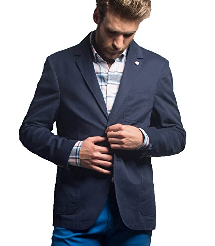 EL FLAMENCO Americana Caballero Sarga, Veste Homme Bleu