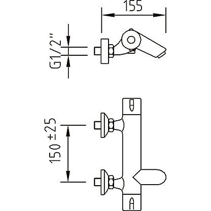 41Qg94mKiiL. SS416  - Clever Nine - Grifo termostático