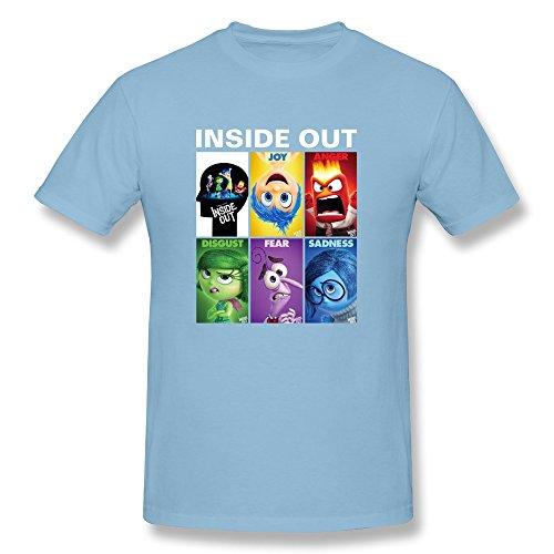 LENOJE Hombres de Disney–Inside out Familia algodón T Shirts