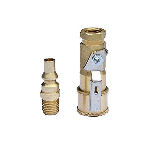 1/10,2cm Quick Release Propan Adapter Abschaltung Gas Adapter für Propan Schlauch CSA zertifiziert -