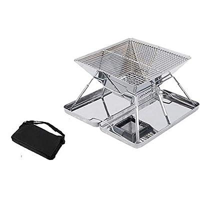 ILUVBBQ Edelstahl-faltende Holzkohle BBQ-Grills Picknick-Grill BBQ-Bratenofen-Gestell für im Freiengarten-Braten