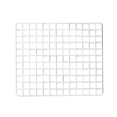 sourcingmap® Kitchen Plateau en plastique blanc et égouttoir porte Motif grille