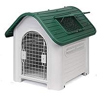 YANQ Casa de Perro Perros pequeños y medianos Perro de plástico para Mascotas al Aire Libre