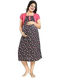 Mamma's Maternity Rayon Floral Print Maternity Dress