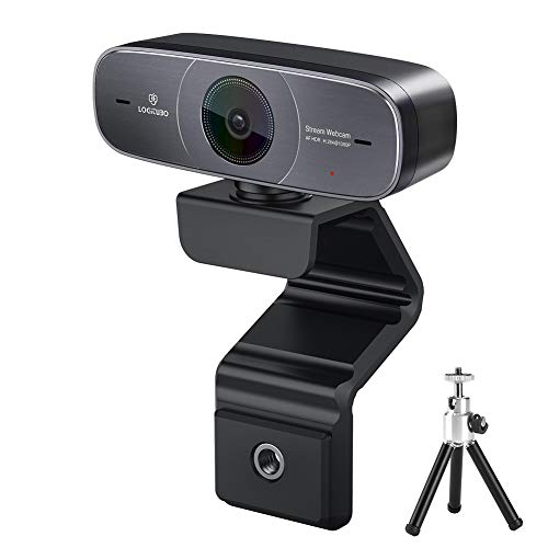 Logitubo Webcam HD 1080P Messa a Fuoco Automatica PC Camera for Videochiamata/Stream DHR USB Web Cam con Microfoni for Windows 10 Mac Xbox One e OBS