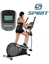 Spirit Cross Trainer DRE 40 - Bicicleta elíptica con sensores de pulso de mano, ergómetro, cardio fitness