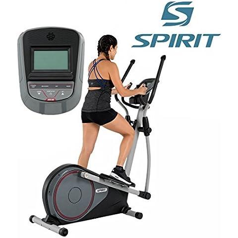 Spirit Cross Trainer DRE 40 - Ellittica con Sensori da Polso, ergometro, cardio fitness - Corrente Ellittica