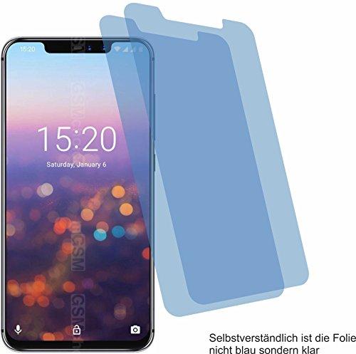 2X Crystal Clear klar Schutzfolie für Umidigi Z2 Pro Bildschirmschutzfolie Displayschutzfolie Schutzhülle Bildschirmschutz Bildschirmfolie Folie