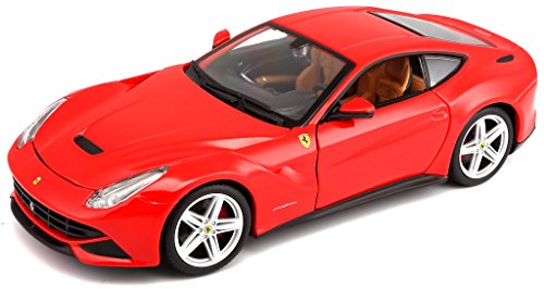 Bburago - 26007R - Véhicule Miniature - Modèle À L'échelle - Ferrari F12 Berlinetta - 2012 - Echelle 1/24 (assortiment de rouge et jaune)