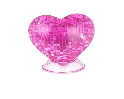 TYKusm DIY 3D Crystal Puzzle Jigsaw Love Heart Model Blocks