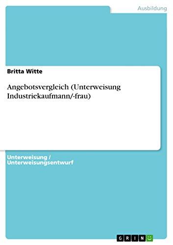 Angebotsvergleich Unterweisung Industriekaufmann Frau Ebook
