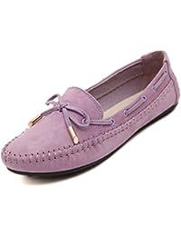 katliu Mujer Mocasines Casuales Loafers Planos Slippers Casual Cómodo Zapatillas Cuero Zapatos…