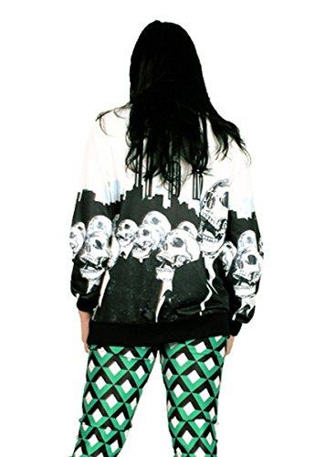Thenice - Sweat-shirt spécial grossesse - Imprimé Animal - Femme Taille Unique crâne