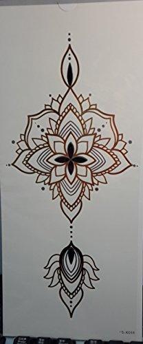 Grashine temporäre Tattoos für Frauen Brust-Blumenentwurf