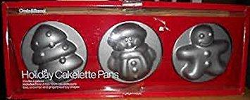 Crate & Barrel Holiday Cakelette Pfannen - Schneemann, Weihnachtsbaum, Lebkuchenjunge Crate Barrel