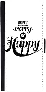 Snoogg Be Happydesigner Protective Flip Case Cover For Sony Xperia Z2