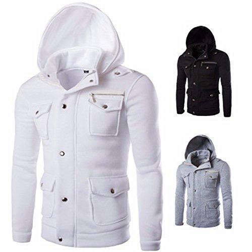 HOT SALE ! Hommes à Capuche Outwear , FNKDOR Hommes Manches Longues Poche  Manteau Solide Sweater 92cc18ef83b