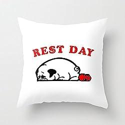 YUIEND día de descanso CARLINO manta funda de almohada Funda de almohada Funda de cojín 18x 18