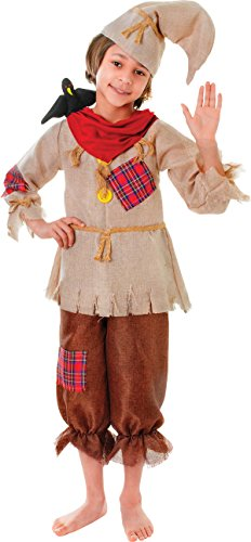 Kid Fancy Kleid Märchen Horror Party Happy Vogelscheuche Jungen Komplettes Kostüm UK (Film Fancy Dress Kostüme Uk)
