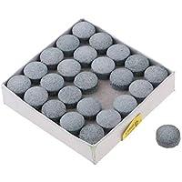 Injoyo 50pcs / Box Snooker Professional Pool Leather Nine Ball Cue Punta Accesorio 13mm