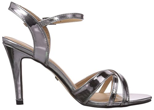 Buffalo  312703 METALLIC PU, Sandales pour femme Argent - Silber (PEWTER 01)