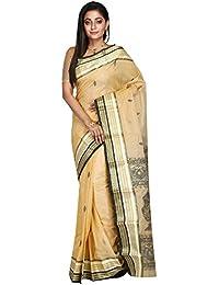 B3Fashion Bengal Handloom Traditional Pure Tassar Silk Saree