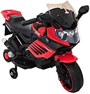 KIDS 6V RIDE ON BATTERY POWERED MOTOR BIKE,RED.