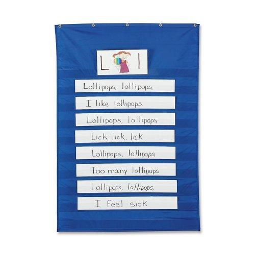Pacon Standard Pocket Chart, 86,4x 127cm blau (Streifen Pocket Chart)