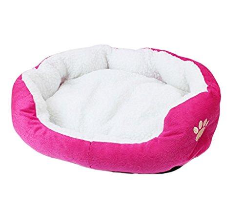 DAYAN sveglio eccellente morbida Cat Bed Cat House inverno caldo cotone dell'animale domestico del cucciolo del cane Alimentazione Mini Dog Pet letto morbido e comodo divano di colore rosso della Rosa