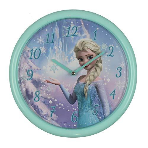 Disney Frozen ELSA Kinder Wanduhr, Metall, Mehrfarbig, 260 mm