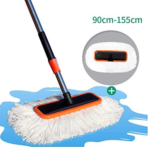 RUIX Autowaschbürste Langer Griff Einziehbare/Weiche Haarbürste/Reinigungsmopp / Reinigungswerkzeug,B