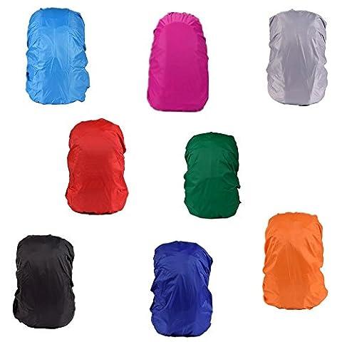 Fully 2x Überzug Hülle Cover Regenschutz für Rucksack Reisegepäck Koffer Rucksacküberzug Wasserdicht (Zufällig, 30-40L)